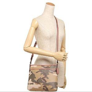 NWT Coach Khaki Camo Cross Body Bag